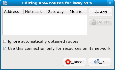 Editing IPv4 Routes